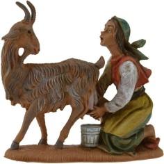 Mondo Presepi Donna che munge la capra 10 cm Fontanini