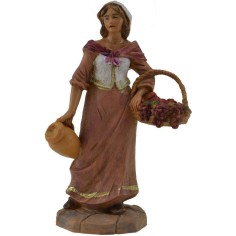 Shepherdess with grapes 9.5 cm Fontanini