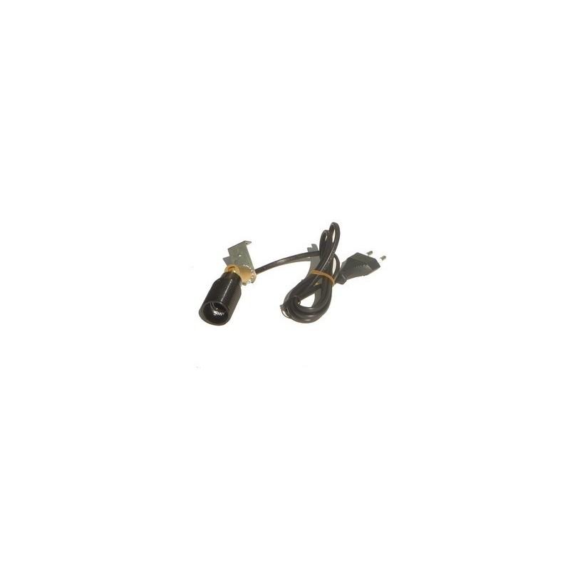 Portalampade E14 con snodo orientabile e cavo - Cod. ILSN50
