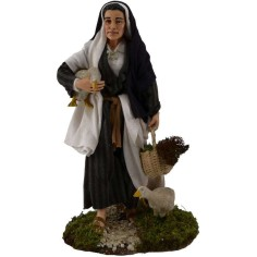 Old woman with geese 30 cm