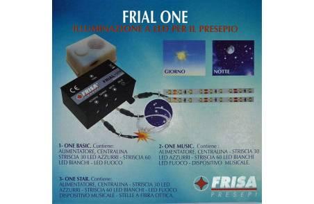 Frail one star con strisce led fibra ottica