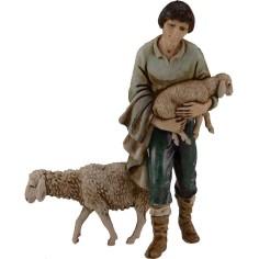 Pastore con agnello e pecora Landi 11 cm