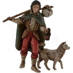 Viandante con cane 11 cm Landi