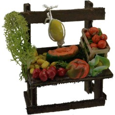 Banco con frutta e verdura cm 7x5,3x9 h.  - 1