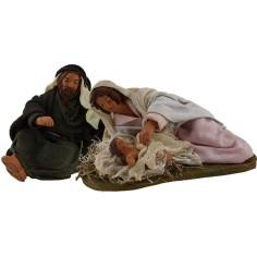 The nativity cm 12-in terracotta dressed crib