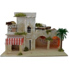 Arab house with curtain and arches cm 32,5x17,5x21 h.