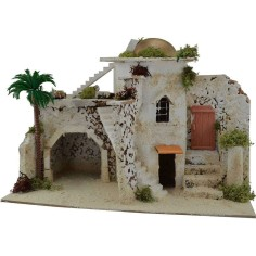 Arab house with stairs, cm 32,5x17,5x23 h.