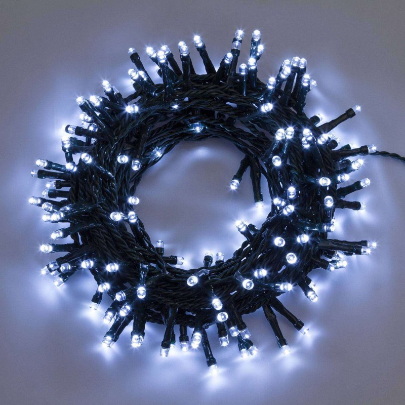 Mondo Presepi Catena 200 led luce bianca fredda con controller