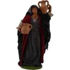 Donna con anfore 16 cm  - 1