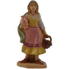 10 cm lux Woman with basket and pitcher