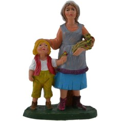 10 cm color Woman with girl