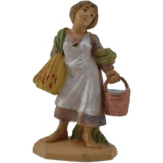 6 cm Woman with bucket lux