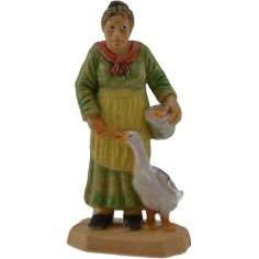 6 cm Peasant woman with goose lux