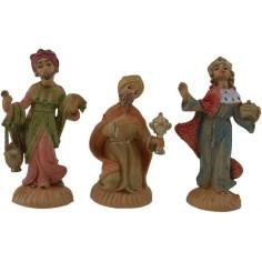 6 cm Set of three Magi in pvc lux