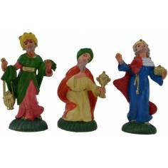 Mondo Presepi 6 cm Set Tre Re Magi in pvc