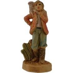 4 cm lux Pastore con pecora sulle spalle in pvc  - 1