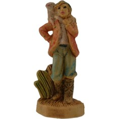 4 cm lux Shepherd with sheep on the shoulders in pvc lux