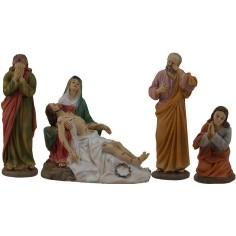 Mondo Presepi cm 12 - 13 Scena morte di Gesù