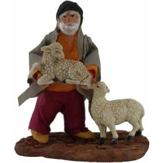Pastore con pecore 10 cm