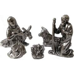 Metal Nativity 2.7 cm 5 subjects