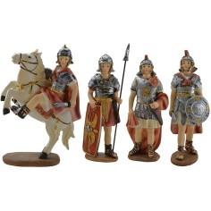 Set 4 soldati 15 cm in resina