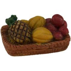 World Nativity Basket with fruit 3.5 cm