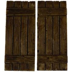 World Cribs Doors wooden shutters cm 2x5 h.