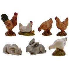 Animali da cortile 7 pezzi Landi Moranduzzo