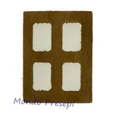 Mondo Presepi Finestra in legno 4x4,7 cm