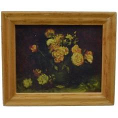 Quadro con fiori 5,8x4,8 cm