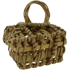 Basket with lid cm 4x2.5x3-5.5 h.