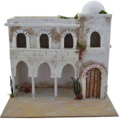 World Cribs Arab House with arched cm 25x20x23