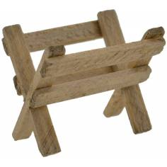 World Nativity Manger wood 3,5x2,5 cm