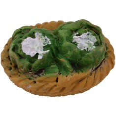 World Nativity Basket with cauliflower 2.5 cm