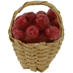 World Cribs wicker Basket ø 2.5 cm with red apples