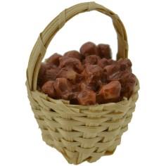 World Cribs wicker Basket ø 2.5 cm with potatoes