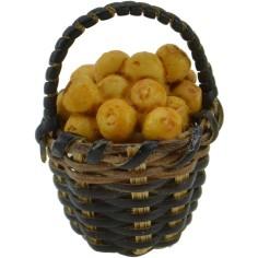 World Cribs wicker Basket ø 2.5 cm with oranges