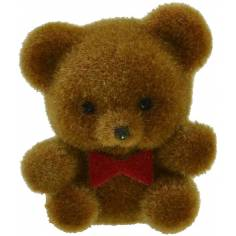 Plush with bow 3 cm