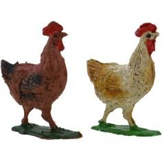Mondo Presepi Set 2 galline Oliver 3 cm