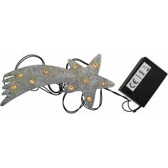 Comet star with 10 battery-powered LEDs