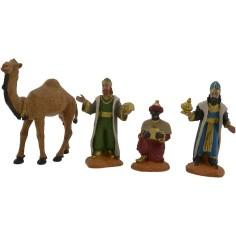 Mondo Presepi Set 3 Re magi 8 cm e cammello Oliver