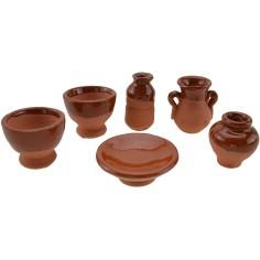 World Nativity Set-6 terracotta amphora 2-2,5-3 cm