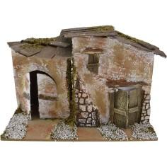 Mondo Presepi Casa rustica per presepe cm 20x14x13 h.