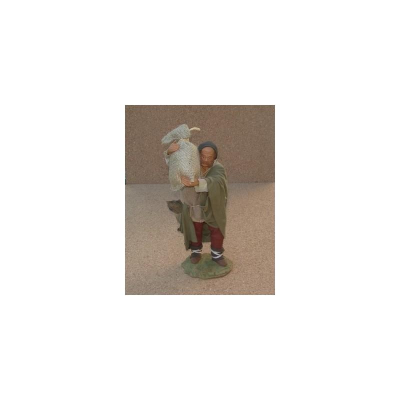 Pastore Lux con sacchi cm 24 - Mondo Presepi