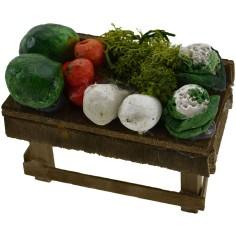 Mondo Presepi Banchetto frutta e verdura cm 6x3,5x3 h