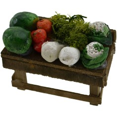 World Nativity Feast of fruits and vegetables cm 6x3,5x3 h