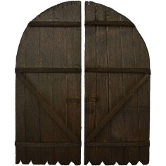 Double leaf wooden door available in sizes: