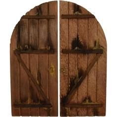 Double wooden door cm 10x12h.
