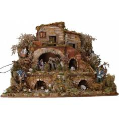 Complete nativity scene with movements cm 80x50x60 h.