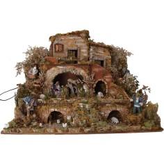 World Nativity scenes Nativity scene complete with movements cm 80x50x60 h.